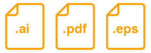 Icons pf .AI, .PDF and .EPS files