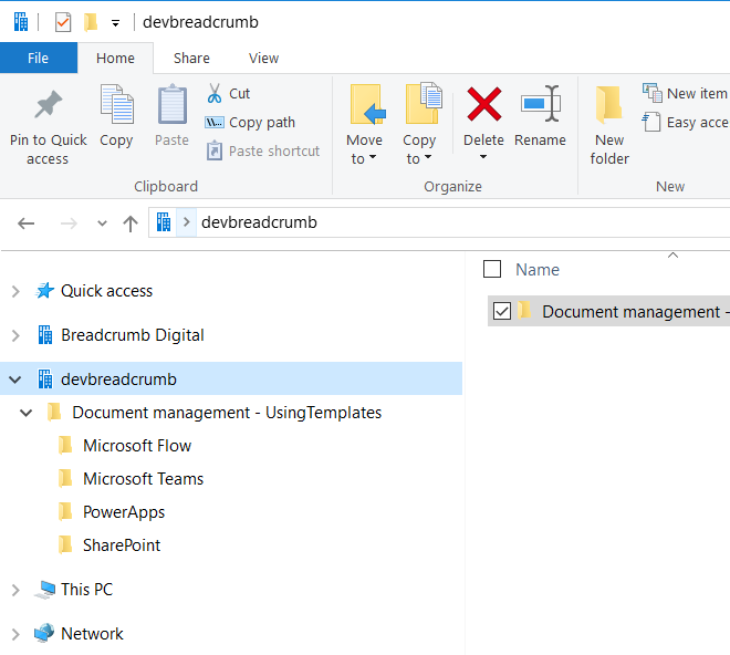 File explorer showing file path