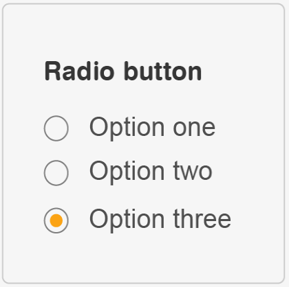 Radio button example